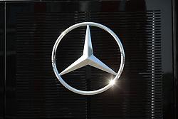 23.07.2015, Hungaroring, Budapest, HUN, FIA, Formel 1, Grand Prix von Ungarn, Vorberichte, im Bild Mercedes Benz stern auf schwarzem Hintergrund der Funkelt // during the preperation of the Hungarian Formula One Grand Prix at the Hungaroring in Budapest, Hungary on 2015/07/23. EXPA Pictures © 2015, PhotoCredit: EXPA/ Eibner-Pressefoto/ Bermel<br /> <br /> *****ATTENTION - OUT of GER*****