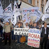 Festeggiamenti per le dimissioni del Sindaco Ignazio Marino
