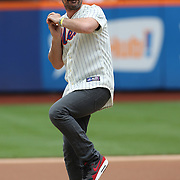 Modern Family actor Ty Burrell throwing out the first pitch before the New York Mets V Miami Marlins, Major League Baseball game which went for 20 innings and lasted 6 hours and 25 minutes. The Marlins won the match 2-1. Citi Field, Queens, New York. 8th June 2013. Photo Tim Clayton