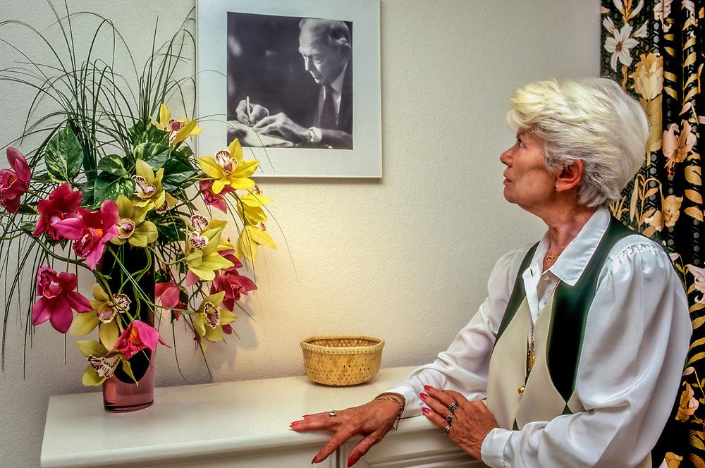 Yvonne Cloetta, mistress to Graham Greene and companion, at her home in Switzerland