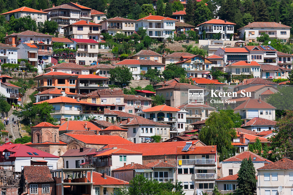 Houses in Ohrid, Republic of Macedonia