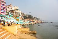 Ghats, on the River Ganges banks, Varanasi, Uttar Pradesh, India