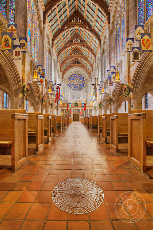 """Image by Dean Davis: I made this image of St. Johns Cathedral just before Christmas of 2008. I was just learning how to do HDR photography and did a personal project called """"Interior Views"""" where I did architectural photography, utilizing HDR techniques, of Spokane landmarks. I had some beautiful light to work with."""