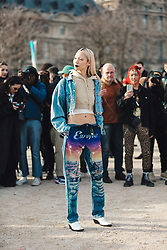 Street Style, Soo Joo Park arriving at Off-White Menswear Fall Winter 2019 ready-to-wear show, held at Paris Fashion Week, on January 16th, 2019. Photo by Mila Belrose/ABACAPRESS.COM
