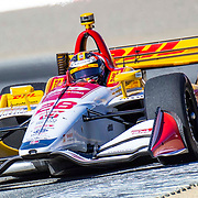 Sept 21 2019 Monterey, CA, U.S.A.  Andretti Autosport driver Ryan Hunter-Reay (28) coming out of turn 3 during the Firestone Grand Prix of Monterey IndyCar Practice # 3 at Weathertech Raceway Laguna Seca Monterey, CA  Thurman James / CSM