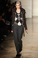 Katie Fogarty walks the runway wearing Altuzarra Fall 2011 Collection during Mercedes-Benz Fashion Week in New York on February 12, 2011