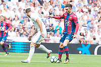 Real Madrid's Theo Hernandez and Levante's Oier Olazabal during La Liga match between Real Madrid and Levante UD at Santiago Bernabeu Stadium in Madrid, Spain September 09, 2017. (ALTERPHOTOS/Borja B.Hojas)