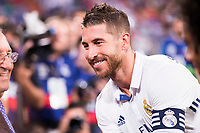 Real Madrid's player Sergio Ramos during the XXXVII Santiago Bernabeu Trophy in Madrid. August 16, Spain. 2016. (ALTERPHOTOS/BorjaB.Hojas)