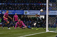 Football - 2018 / 2019 Emirates FA Cup - Fourth Round: Portsmouth vs. Queens Park Rangers<br /> <br /> Joel Lynch of Queens Park Rangers puts through his on net to put Portsmouth a goal up at Fratton Park <br /> <br /> COLORSPORT/SHAUN BOGGUST