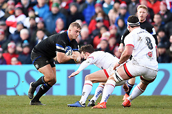 Jack Walker of Bath Rugby takes on the Ulster defence - Mandatory byline: Patrick Khachfe/JMP - 07966 386802 - 18/01/2020 - RUGBY UNION - Kingspan Stadium - Belfast, Northern Ireland - Ulster Rugby v Bath Rugby - Heineken Champions Cup