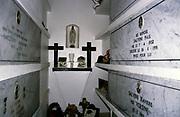 Cimetière d'Ajaccio, cemetery at Ajaccio, Corsica, France in 1998 inside family burial crypt