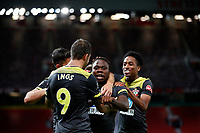Football - 2019 / 2020 Premier League - Manchester United vs Southampton<br /> <br /> Michael Obafemi of Southampton celebrates at Old Trafford<br /> <br /> COLORSPORT/LYNNE CAMERON