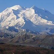 Snow-capped Mount McKinley. Denali National Park & Preserve, Alaska
