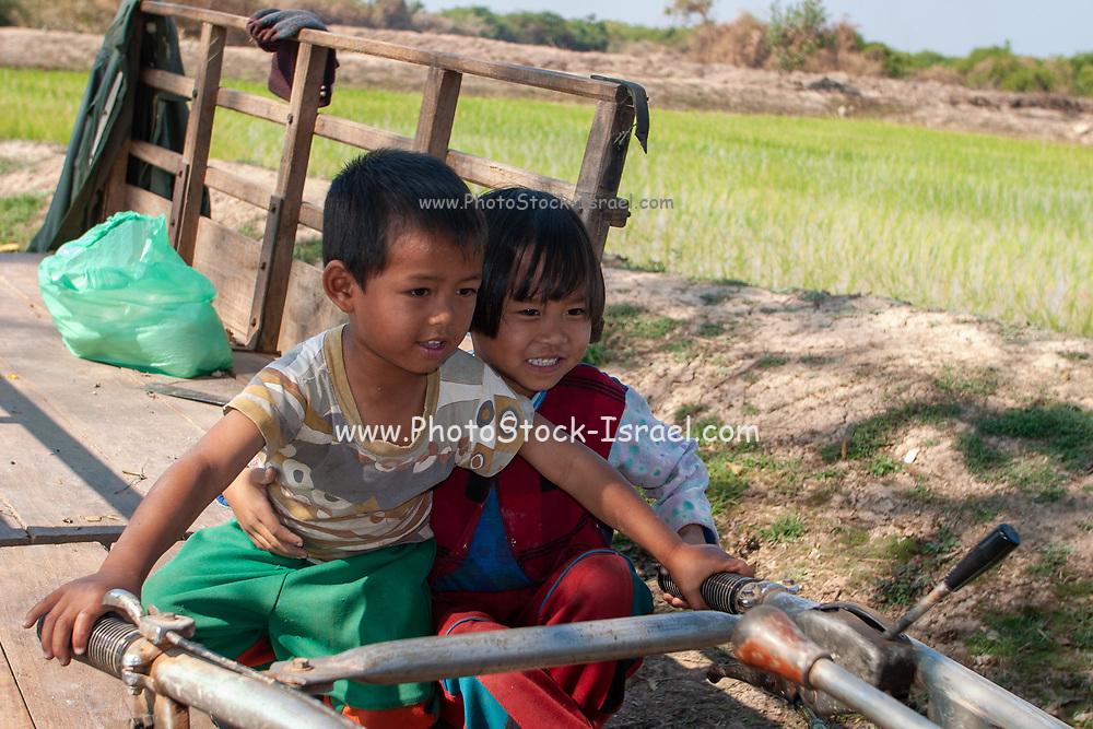Happy Thai Children in rural Thailand