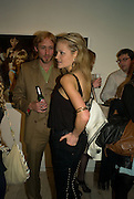 SAM PELLY  AND LADY ELOISE ANSON,  Alex Prager's The Big Valley exhibition.  Michael Hoppen Contemporary.Jubilee Place. London. 24 April 2008.  *** Local Caption *** -DO NOT ARCHIVE-© Copyright Photograph by Dafydd Jones. 248 Clapham Rd. London SW9 0PZ. Tel 0207 820 0771. www.dafjones.com.