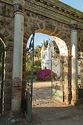 Entrance to the grounds of Hacienda Piman, Imbabura Province, Ecuador, South America