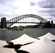 Harbour bridge and ferry, Sydney, Australia