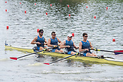 Poznan, POLAND, 21st June 2019, Friday, Morning Heats, USA M4- /1 (b) DETHLEFS Thomas, (2)HARRITY Conor, (3)RICHARDS Alexander and WALLIS Alexander,  FISA World Rowing Cup II, Malta Lake Course, © Peter SPURRIER/Intersport Images,<br /> <br /> 11:49:18