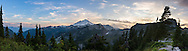 Panorama of Mount Baker from Artist Point in the Mount Baker-Snoqualmie National Forest, Washington State, USA