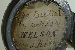The locket casing made by surgeon William Beatty to hold the bullet which killed Admiral Lord Nelson at the Battle of Trafalgar, which is being displayed in the Nelson & Norfolk exhibition at Norwich Castle Museum & Art Gallery.
