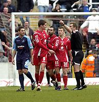 Photo: Matt Bright/Sportsbeat Images.<br /> Swindon Town v Swansea City. Coca Cola League 1. 01/01/2008.<br /> Barry Corr of Swindon is sent off