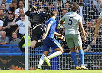 Football - 2017 / 2018 Premier League - Chelsea vs. Everton<br /> <br /> Alvaro Morata of Chelsea scores goal no 2 past Jordan Pickford at Stamford Bridge.<br /> <br /> COLORSPORT/ANDREW COWIE