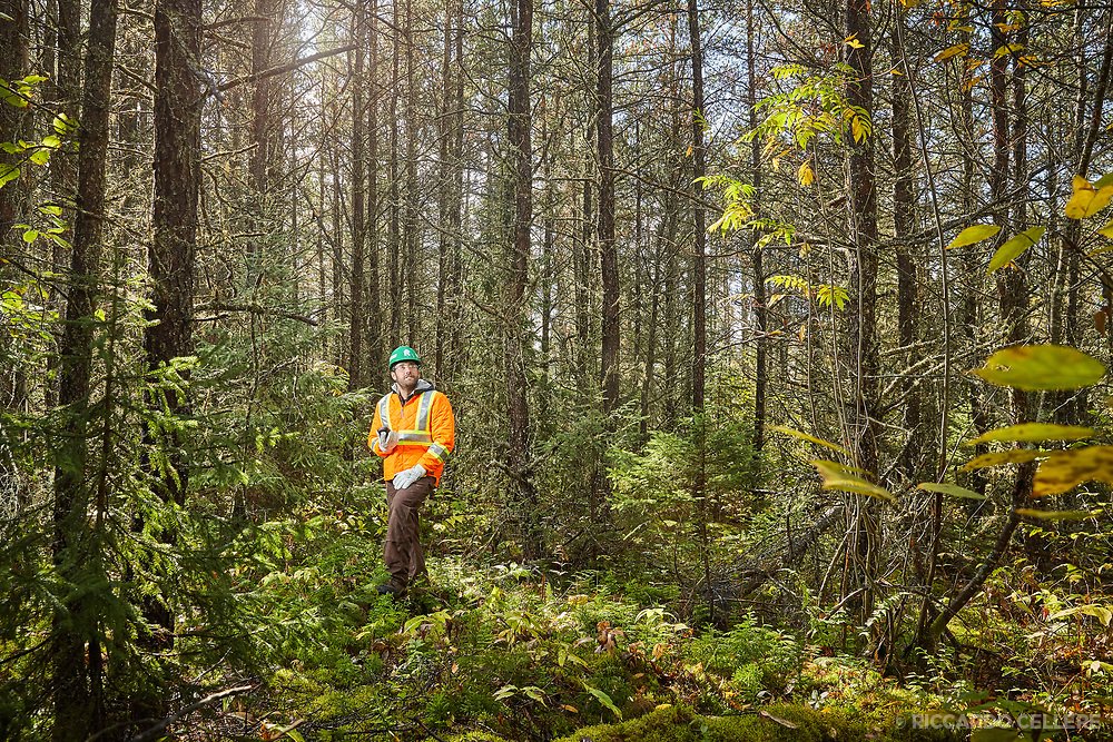 Corporate photography. Forester with Resolute Forest Products, northern Ontario, Canada. 2017.