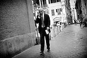 Pierferdinando Casini per le strade del centro di Roma. Roma, 11 settembre 2013. Christian Mantuano / OneShot <br /> <br /> Pier Ferdinando Casini on the streets of central Rome. Rome, 11 September 2013. Christian Mantuano / OneShot