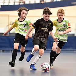 BRISBANE, AUSTRALIA - NOVEMBER 14:  during the QLD Futsal Junior Superliga match between Elitefoot u10 Black and u10 Ipswich Futsal at Anna Meares Velodrome on November 14, 2020 in Brisbane, Australia. (Photo by Patrick Kearney)