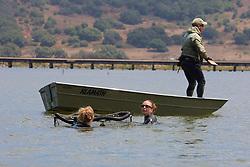 Katie & Stephanie Transporting Leopard Shark