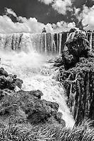 The St Martin Waterfall from the viewing platform on Isla San Martin at Iguazu Falls
