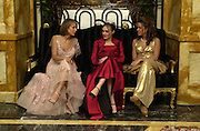 Lady Serena Hervey, Tamara Ecclestone and Selin Fadillioglu. Crillon Haute Couture Ball. Crillon Hotel, Paris. 2 December 2000. © Copyright Photograph by Dafydd Jones 66 Stockwell Park Rd. London SW9 0DA Tel 020 7733 0108 www.dafjones.com