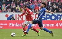 v.l. Giulio Donati (Mainz), Eric Maxim Choupo-Moting <br /> Mainz, 19.03.2017, Fussball, Bundesliga, 1. FSV Mainz 05 - FC Schalke 04 0:1<br /> <br /> Norway only