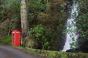 The phone box featured in the 1945 film 'I know where I'm Going' at Carsaig Bay, Isle of Mull, Scotland. This remote location is at the end of a 4-5 mile single-track road from a larger road on the Ross of Mull. The famous red phone box at Carsaig was saved by movie fans (you can dial its number +44 (0)1681-704203). In danger of being removed due to lack of use it is now just used by hikers unable to obtain a mobile (cell) phone signal. Fans of the movie rescued the iconic phone kiosk from crumbling. Visited by film buffs, the kiosk now has Historic Scotland list B status because of its part on screen. And during a pilgrimage to celebrate the Powell and Pressburger film's 65th anniversary, fans noticed that the box was in a poor condition.