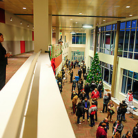 121413  Adron Gardner/Independent<br /> <br /> A crowd gathers in the lobby for the opening of the Grants High School Performing Arts Center in Grants Saturday.