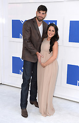 David Eason and Jenelle Evans arriving at the MTV Video Music Awards 2016, Madison Square Garden, New York City.