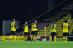 Watford's Lewis McGugan celebrates his goal. - Photo mandatory by-line: Dougie Allward/JMP - Tel: Mobile: 07966 386802 14/01/2014 - SPORT - FOOTBALL - Vicarage Road - Watford - Watford v Bristol City - FA Cup - Third Round - replay