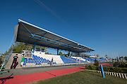 Brandenburg. GERMANY. The Brandenburg Grandstand.<br /> 2016 European Rowing Championships at the Regattastrecke Beetzsee<br /> <br /> Sunday  08/05/2016<br /> <br /> [Mandatory Credit; Peter SPURRIER/Intersport-images]