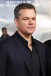 """Matt Damon attends the premiere of """"12 Strong"""" at Jazz at Lincoln Center's Frederick P. Rose Hall in New York"""