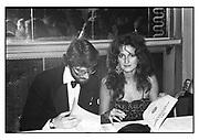 Hon Benjamin Mancroft, Isobel Goldsmith, Afghan Ball, Cafe Royal, London. 1983