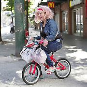 A woman who identifies as Star shares a laugh on the streets of Vancouver, B.C.