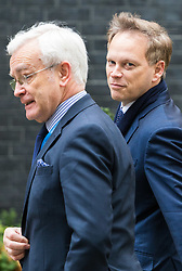 London, November 29 2017. Grant Shapps (R) is seen walking up Downing Street to a meeting at No. 10. © Paul Davey