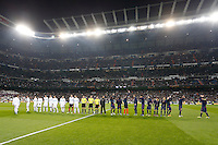 30.01.2013 SPAIN -  Copa del Rey 12/13 Matchday 1/4  match played between Real Madrid CF vs  F.C. Barcelona (1-1) at Santiago Bernabeu stadium. The picture show