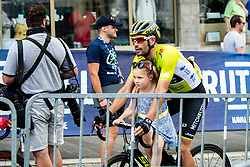 Luka Mezgec (SLO) of Mitchelton - Scott with child during 3rd Stage of 26th Tour of Slovenia 2019 cycling race between Zalec and Idrija (169,8 km), on June 21, 2019 in Slovenia. Photo by Matic Klansek Velej / Sportida