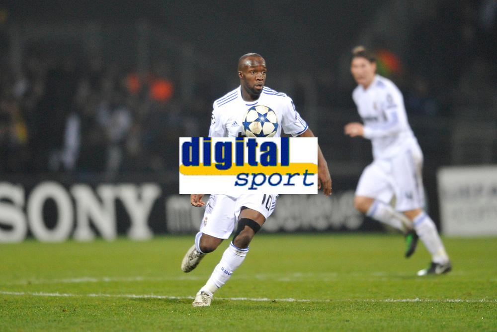 FOOTBALL - CHAMPIONS LEAGUE 2010/2011 - 1/8 FINAL - 1ST LEG - OLYMPIQUE LYONNAIS v REAL MADRID - 22/02/2011 - PHOTO GUY JEFFROY / DPPI - LASSANA DIARRA (REAL)