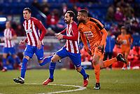 Atletico de Madrid's Juanfran Torres and SD Eibar's Tiago Manuel Dias during Copa del Rey match between Atletico de Madrid and SD Eibar at Vicente Calderon Stadium in Madrid, Spain. January 19, 2017. (ALTERPHOTOS/BorjaB.Hojas)