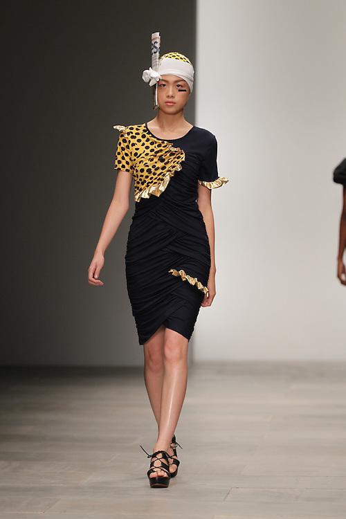 Models walk the runway for the Danielle Scutt Spring 2012 London Fashion Week show.