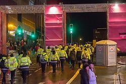 Security on Princes Street. Edinburgh's Hogmanay Street Party, Sunday 31st December