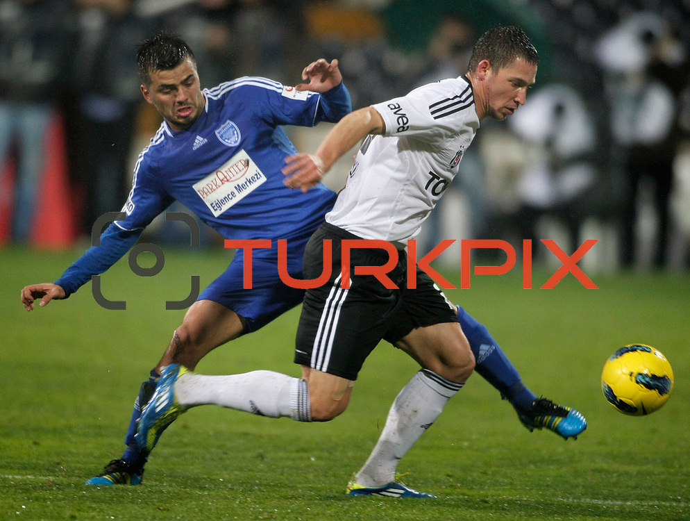 Besiktas's Filip Holosko (R) during their Turkey Cup matchday 3 soccer match Besiktas between Gaziantepspor BSB at the Inonu stadium in Istanbul Turkey on Wednesday 11 January 2012. Photo by TURKPIX