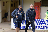 Newport county manager Terry Butcher ® looks on. Skybet football league two match, Newport county v York city at Rodney Parade in Newport, South Wales on Saturday 5th Sept 2015.  pic by Andrew Orchard, Andrew Orchard sports photography.